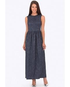 Длинное вечернее платье из жаккарда Emka PL-551/leonela