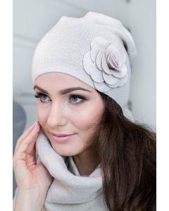Женская шапка с цветком Veilo 10.68-12