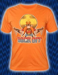 Мужская футболка оранжевого цвета BACK OFF
