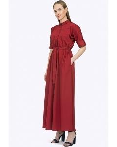 Длинное платье в стиле сафари Emka PL596/perro