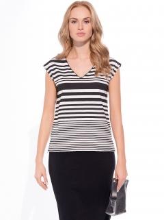 Летняя чёрно-белая блузка Sunwear W18