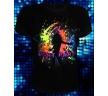 Вот так футболка светится в ультрафиолете
