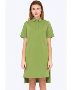 Хлопковое платье зеленого цвета Emka Fashion PL-566/makariya