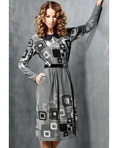Трикотажное платье TopDesign B3 009