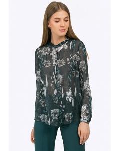 Шифоновая блузка с цветочным принтом Emka B2300/tegue