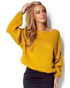 Жёлтый короткий свитер Fimfi I299