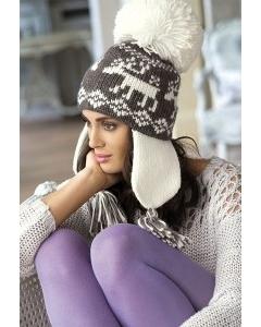 Темно-серая шапка ушанка Kamea Olena