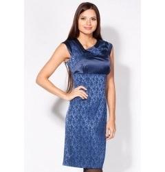 Яркое платье синего цвета 1638