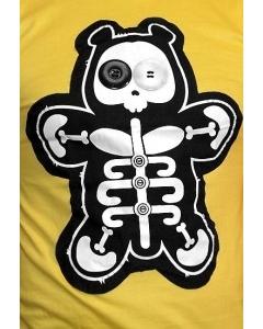 Желтая мужская футболка Skeleton