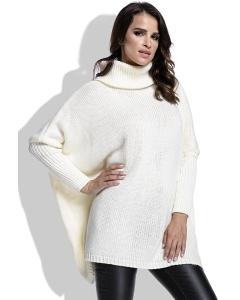 Теплый свитер с высоким воротом молочного цвета Fimfi I217