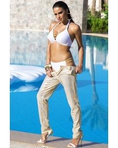 Белый купальник со шнуровкой спереди Primo 422/1