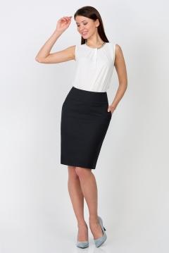 Иссиня-чёрная юбка Emka Fashion 212-dorofeya