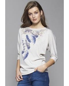 Трикотажная блузка с принтом Zaps Otiena