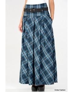 Длинная юбка в клетку Emka Fashion 427-sadria