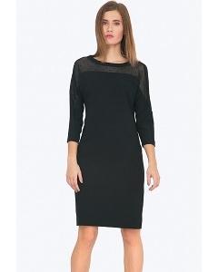 Чёрное платье с прозрачной вставкой Emka PL705/backley