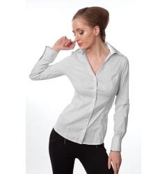 Приталенная офисная блузка