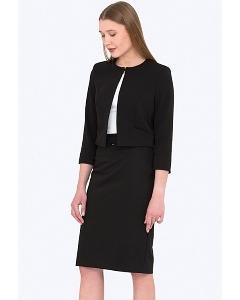 Чёрная офисная юбка Emka Fashion 369/milisa (осень 2018)