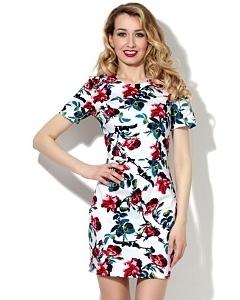Платье из хлопка с добавлением эластана Donna Saggia DSP-87-13