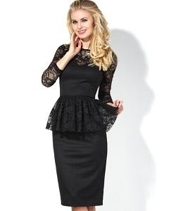 Платье со съемной баской Donna Saggia DSP-132-4t
