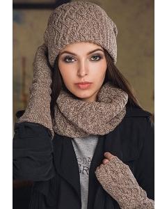 Комплект шапка+снуд+митенки SuperShapka Ice