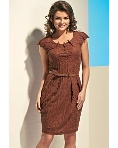 Коричневое платье TopDesign A4 046