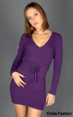 Очень короткое трикотажное платье