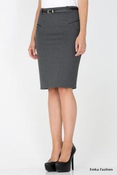 Юбка-карандаш серого цвета Emka Fashion 464-melanta