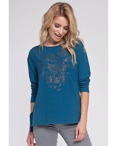 Блузка бирюзового цвета Sunwear O07-5-90