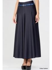 Длинная тёмно-синяя юбка Emka Fashion 288-arletta