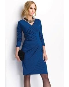 Трикотажное платье синего цвета Sunwear PS62-5