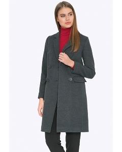 Женское двубортное пальто прямого кроя Emka R-021/ailana