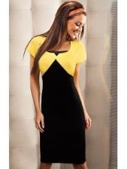 Черно-желтое платье Enny   15013