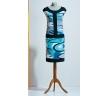 Голубой платье