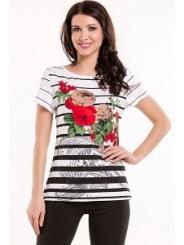 Летняя блузка с принтом Remix 3982