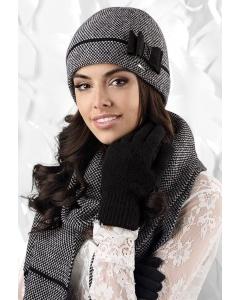 Чёрно-белый шарф Kamea Bolonia