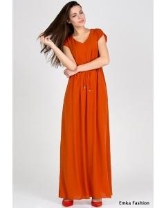 Длинное летнее платье Emka Fashion PL-414/anisiya