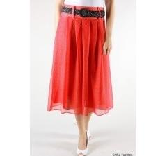 Легкая летняя юбка красного цвета