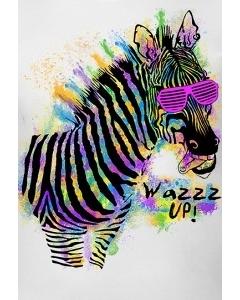 Мужская футболка Zebra wazzzup (Светится в ультрафиолете)