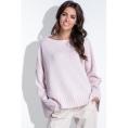 Женский розовый свитер оверсайз Fobya F429