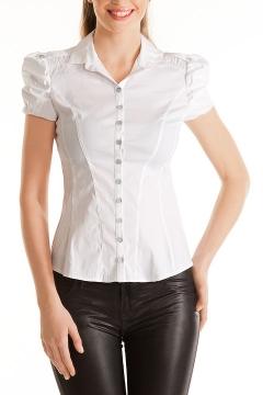 Белая блузка в офис