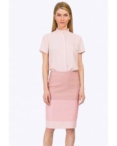 Двухцветная розовая юбка Emka S663/beteni
