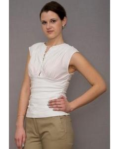 Белый женский топ Golub | Т158-853