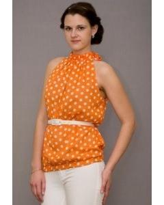 Оранжевые женский топ Golub | Т233-1516-1625