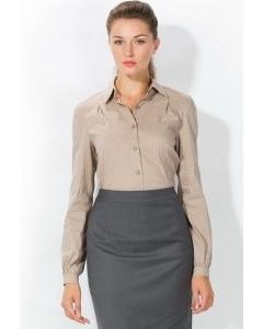 Светло-коричневая женская рубашка | 4666/2