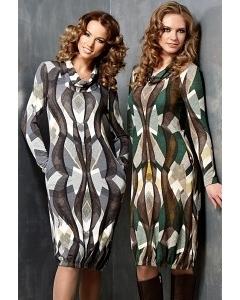 Трикотажное платье TopDesign B3 016