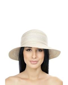 Бежевая летняя шляпка Del Mare 044-10
