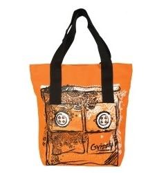 Чёрно-оранжевая сумка Grizzly | Л-904